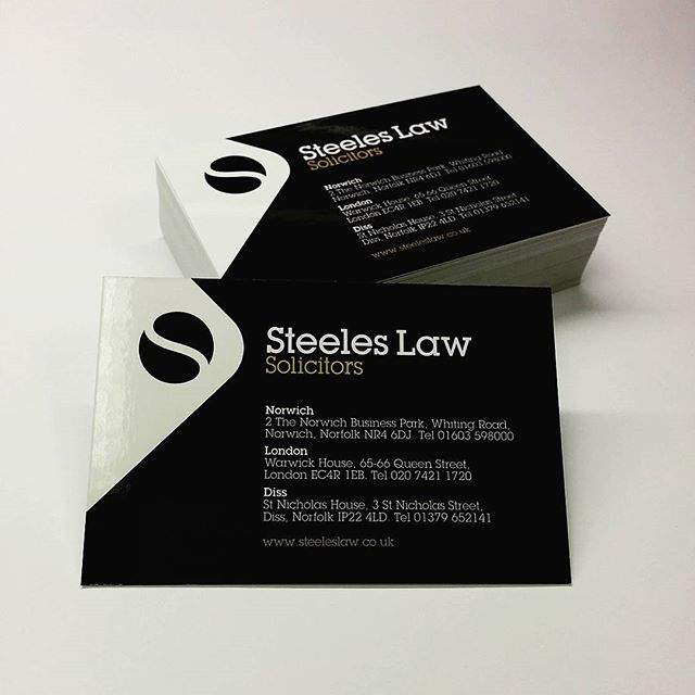 Interprint norwich business cards printed for steeles law norwich reheart Images